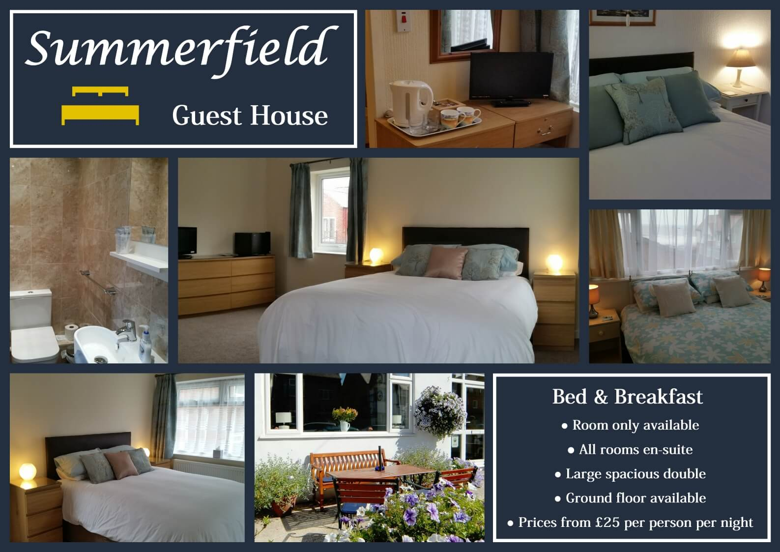 Summerfield Guest House information collage