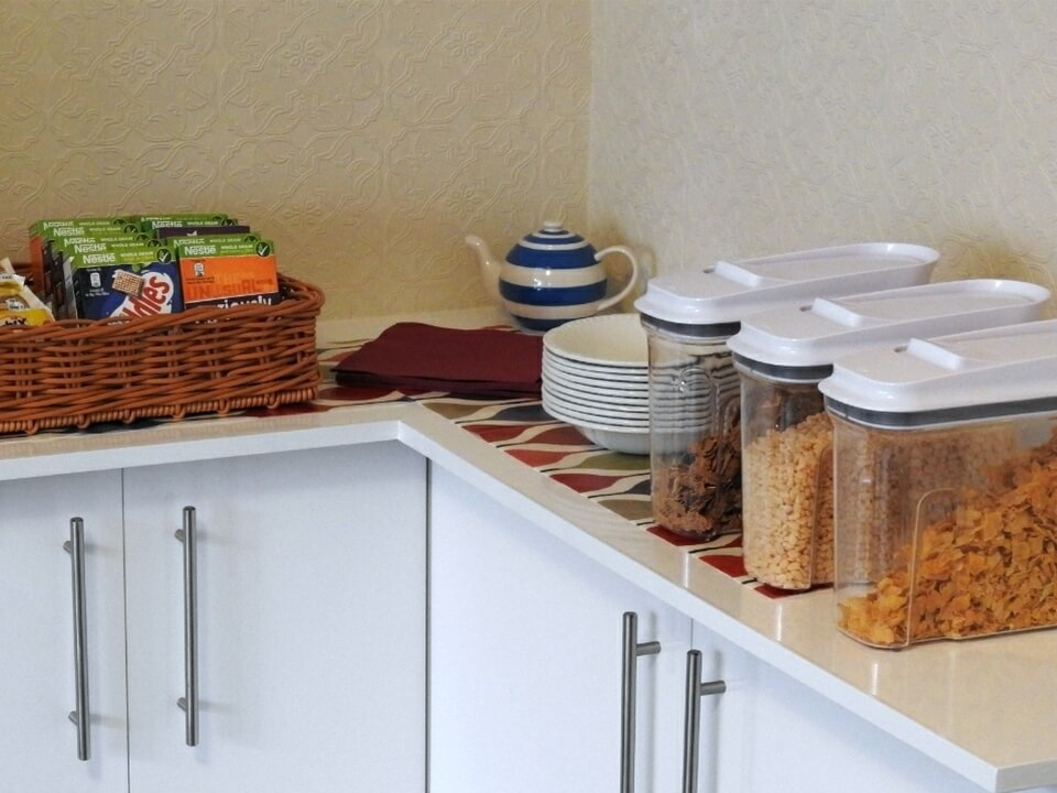 Summerfield Guest House Bridlington Front Dining Room Cereal Display
