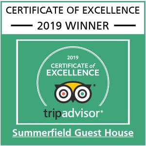 Summerfield Guest House Bridlington Tripadvisor Certificate of Excellence 2019